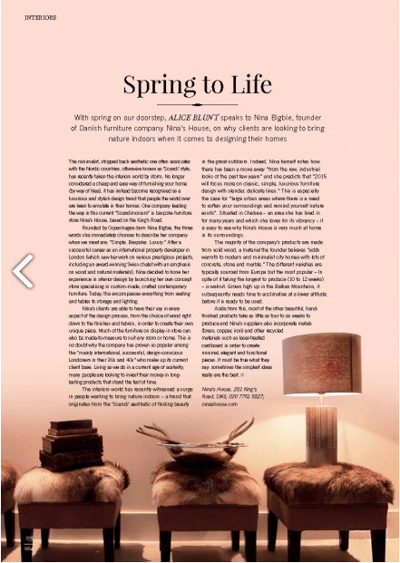 Kensington and Chelsea Magazine April 2015: Article on Nina's House (2/2)