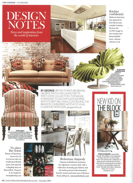 Country & Town House Magazine. Featured: LAKRI table (2/2)