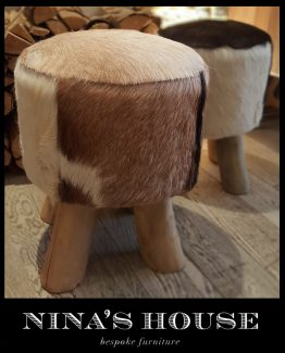DECORAMA COWHIDE STOOL