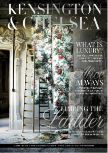 Kensington and Chelsea Magazine April 2015: Article on Nina's House