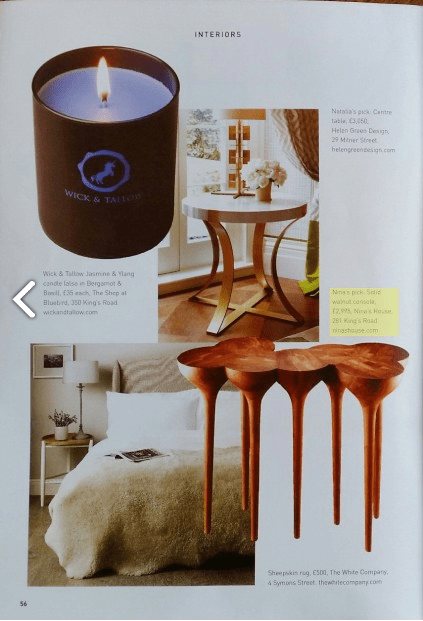Sloane Square Magazine October 2014. Featured: TESA sideboard and ESGRIMA console. (3/3)