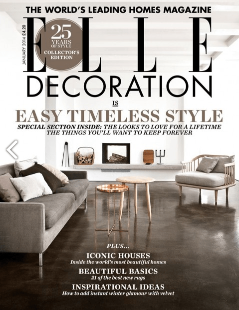 Elle Decoration January 2014. Featured: Article and TESA sideboard (1/2)
