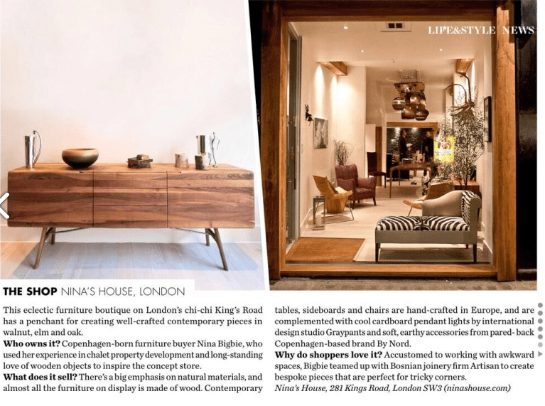 Elle Decoration January 2014. Featured: article and TESA sideboard (2/2)