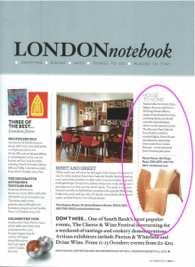 Homes & Gardens Magazine. Featured: MONROE chair (1/1)