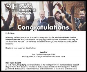 Greater London Enterprise Award 2019